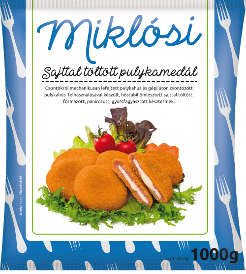 Miklósi turkey medallion with cheese filling